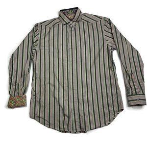 Robert Graham L Multicolored Stripe Long Sleeve